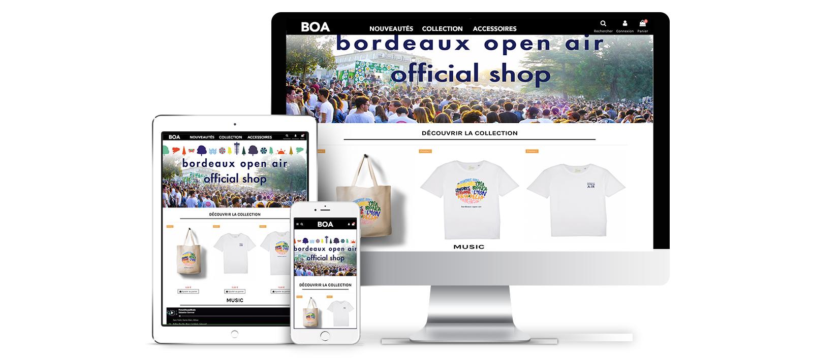 image boutique en ligne personnalise merchandising